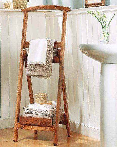 Toallero de pie ba o pinterest toallero lavabo y - Toalleros de madera para bano ...