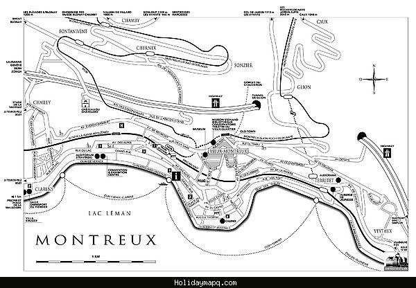 awesome Map of Montreux Holidaymapq Pinterest Ohio