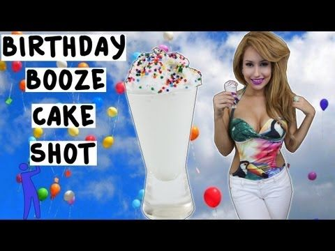 Booze Birthday Cake Shot Tipsy Bartender YouTube