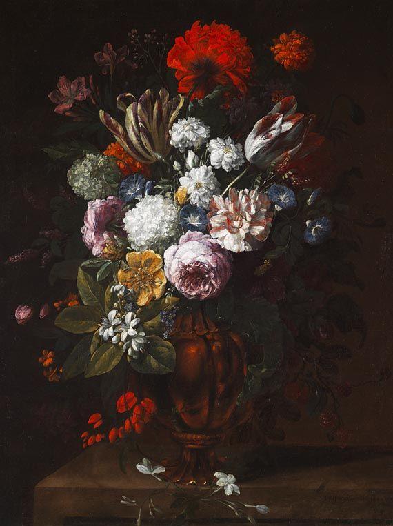 Verbruggen Gaspar Pieter Flemish Flower Still Life From The Late 17th Century Beautiful Flower Painting Alien Drawings Art