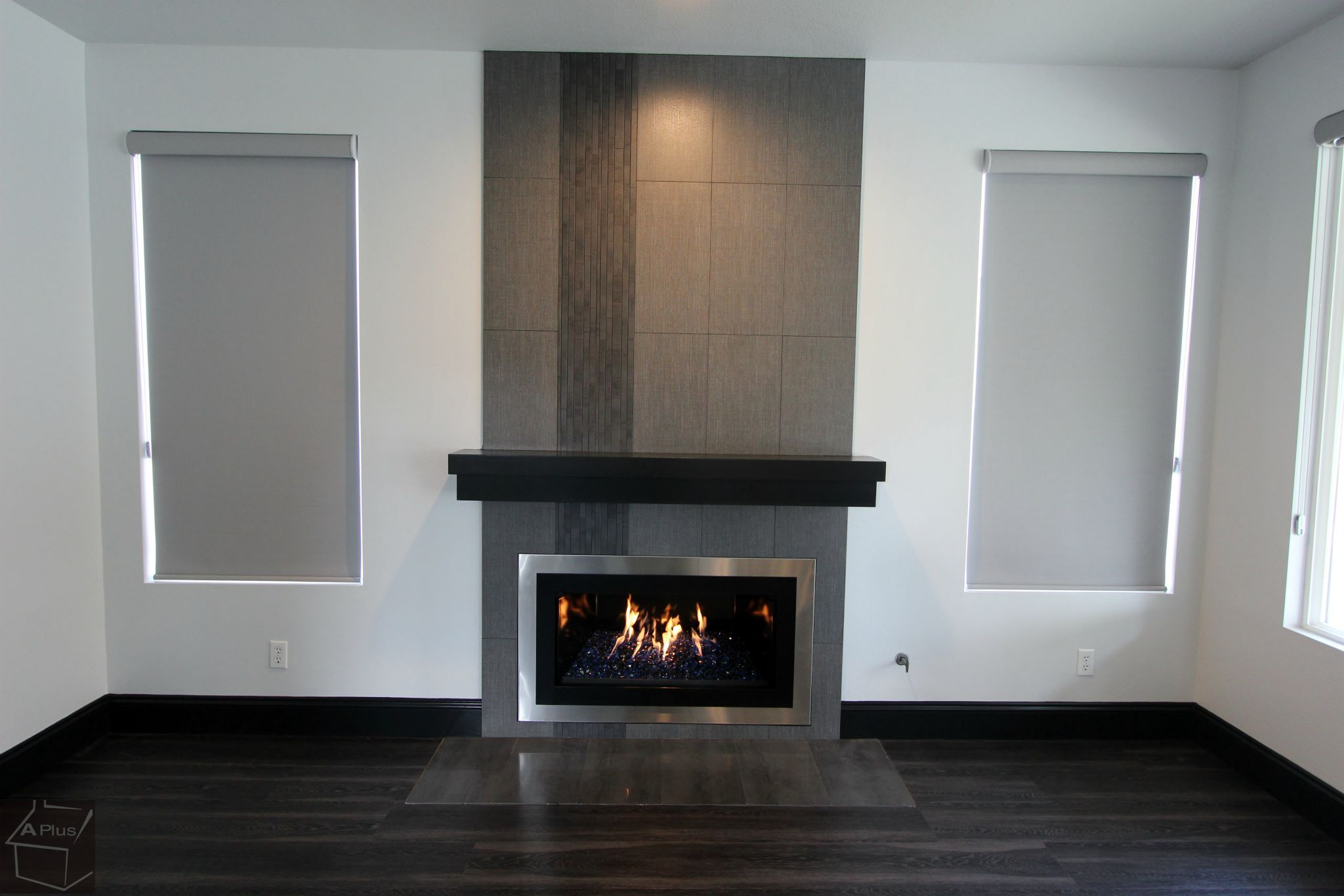 Fire Place Remodel With Design Build Custom Modern Sophia Line