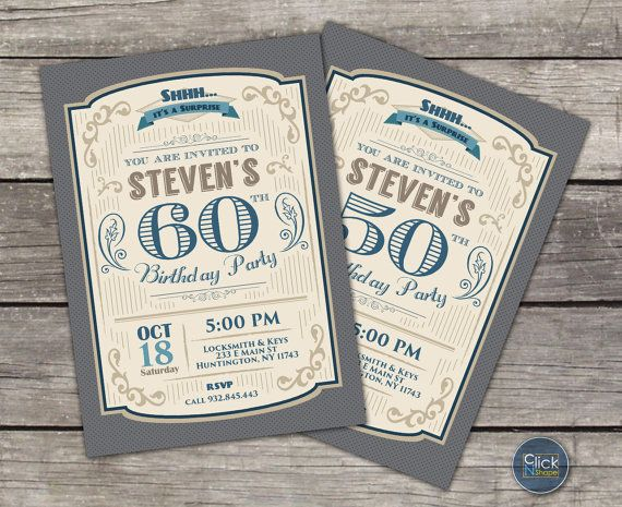 Birthday Party Ideas 30th 40th 50th 60th 70th 80th Retro By ClickNshape