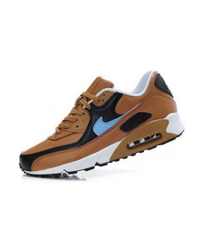best service 54b05 9da95 Nike Air Max 90 Brown Black Photo Blue Mens Sale UK