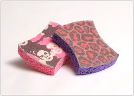 O-Cel-O just introduced two new no-scratch sponges designed by Project Runway winner Christian Siriano.Yep, Christian Siriano sponges.