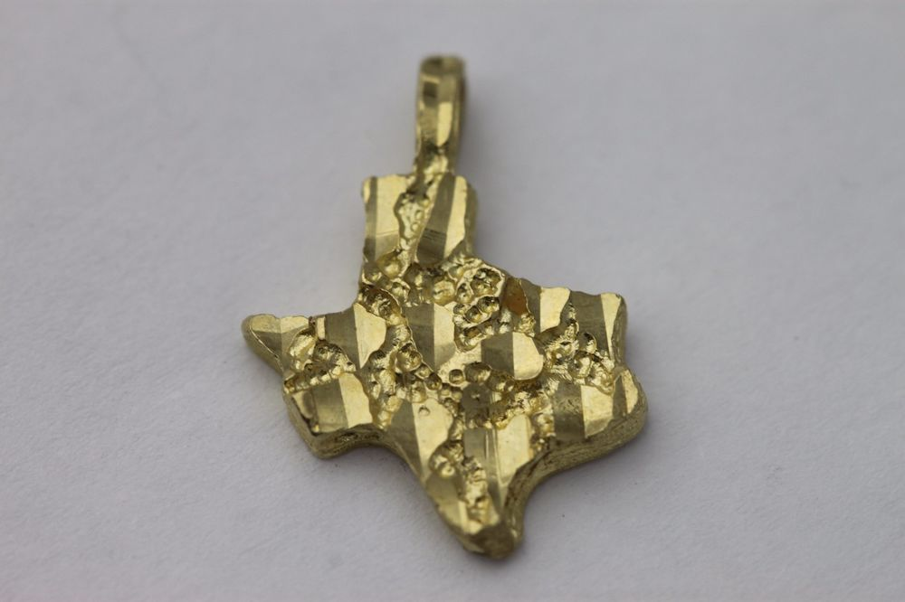 10k yellow gold nugget texas pendant 185mm treasures jewelry 10k yellow gold nugget texas pendant 185mm mozeypictures Choice Image