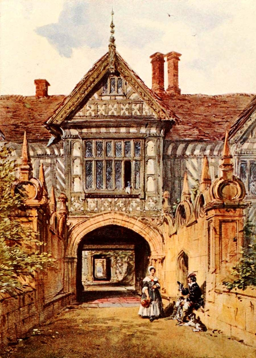 Nash, Joseph (1809-1878) - A History of British Water Colour Painting 1908, Speke Hall, Lancashire. #england