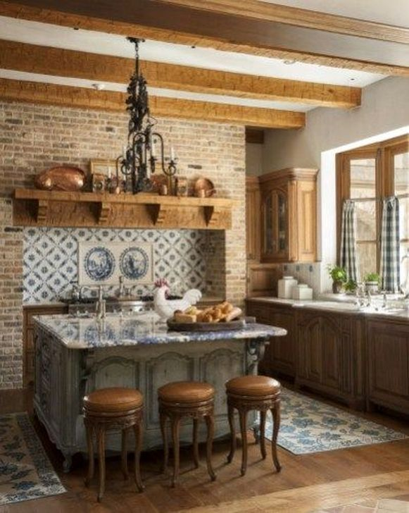 30+ Classy French Country Kitchen Design Ideas