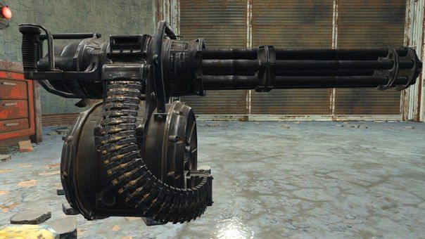 Fallout 4 - Full Size Minigun Ver.2 Free Paper Model Download ...