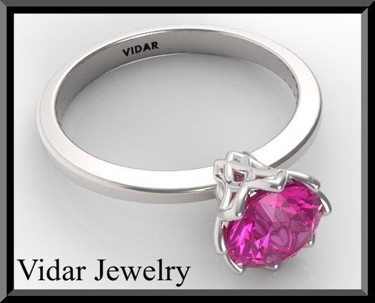 Engagement RingSapphire Engagement RingPink by Vidarjewelry, $1190.00