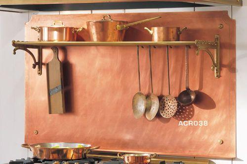 Panneau Décoratif Mural / En Cuivre / Pour Cuisine Acr038 Officine