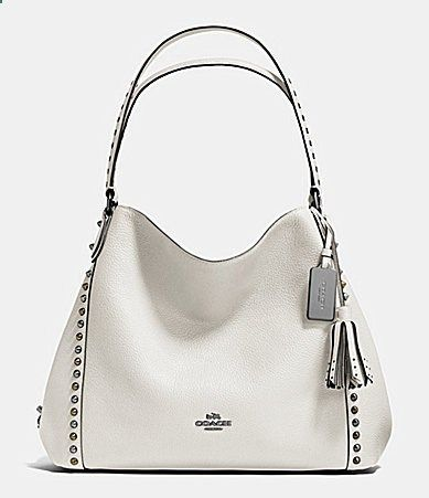 Coach Outline Studs And Grommets E Shoulder Bag 31 In Leather Dillards