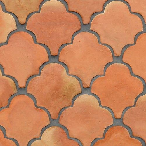 Fan Shape Natural Terracotta Tiles 6 3 4x6 1 2 Country Floors Of America Llc In 2020 Terracotta Tiles Exterior Tiles Fireplace Tile