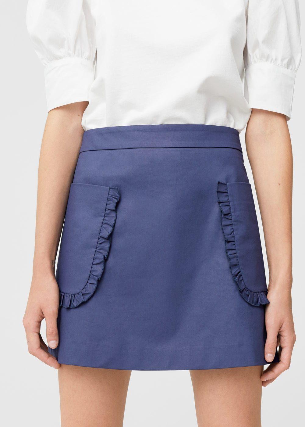 Jupe enduite poches - f pouCourtes Femme en 2018   Wishlist ... a88a4916256b