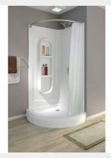 Its The One Corner Shower Stalls Small Shower Remodel Shower Stall