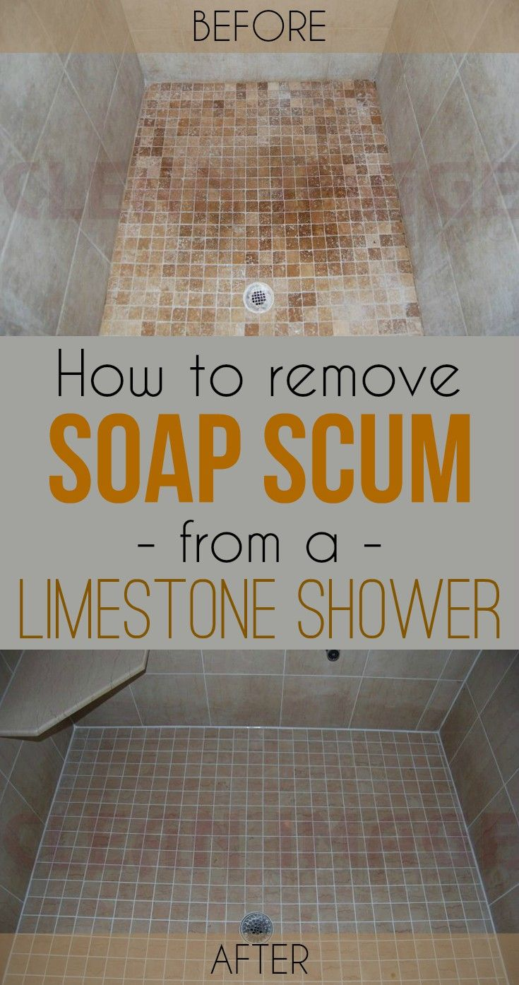How To Remove Soap Scum From A Limestone Shower Cleaning Ideas