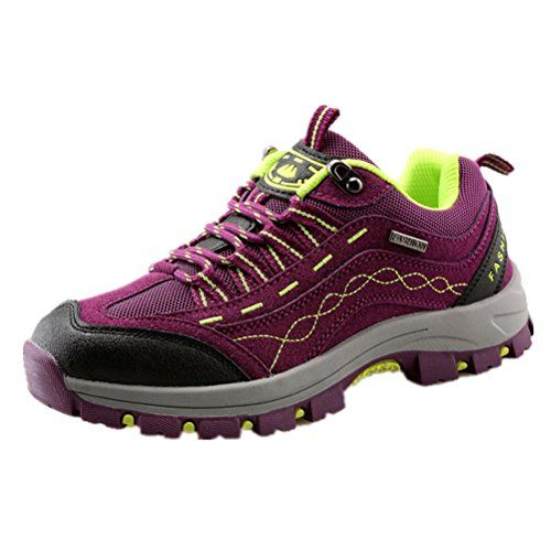 ANBOVER Womens Waterproof Breathable Hiking Boot CrossCountry Shoes Purple38 *** Continue to the product at the image link.