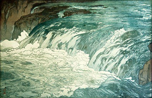 "Japanese Art Print ""Rapids"" by Yoshida Hiroshi. Shin Hanga and Art Reproductions http://www.amazon.com/dp/B00VDGMJUY/ref=cm_sw_r_pi_dp_wXSvwb0PWYCE3"