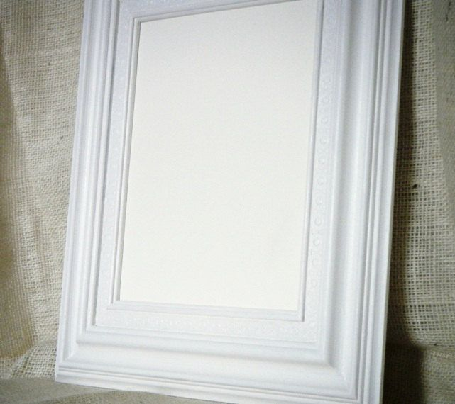 Shabby Chic Antique White Large Chunky Wood FRAME.......YOU choose ...