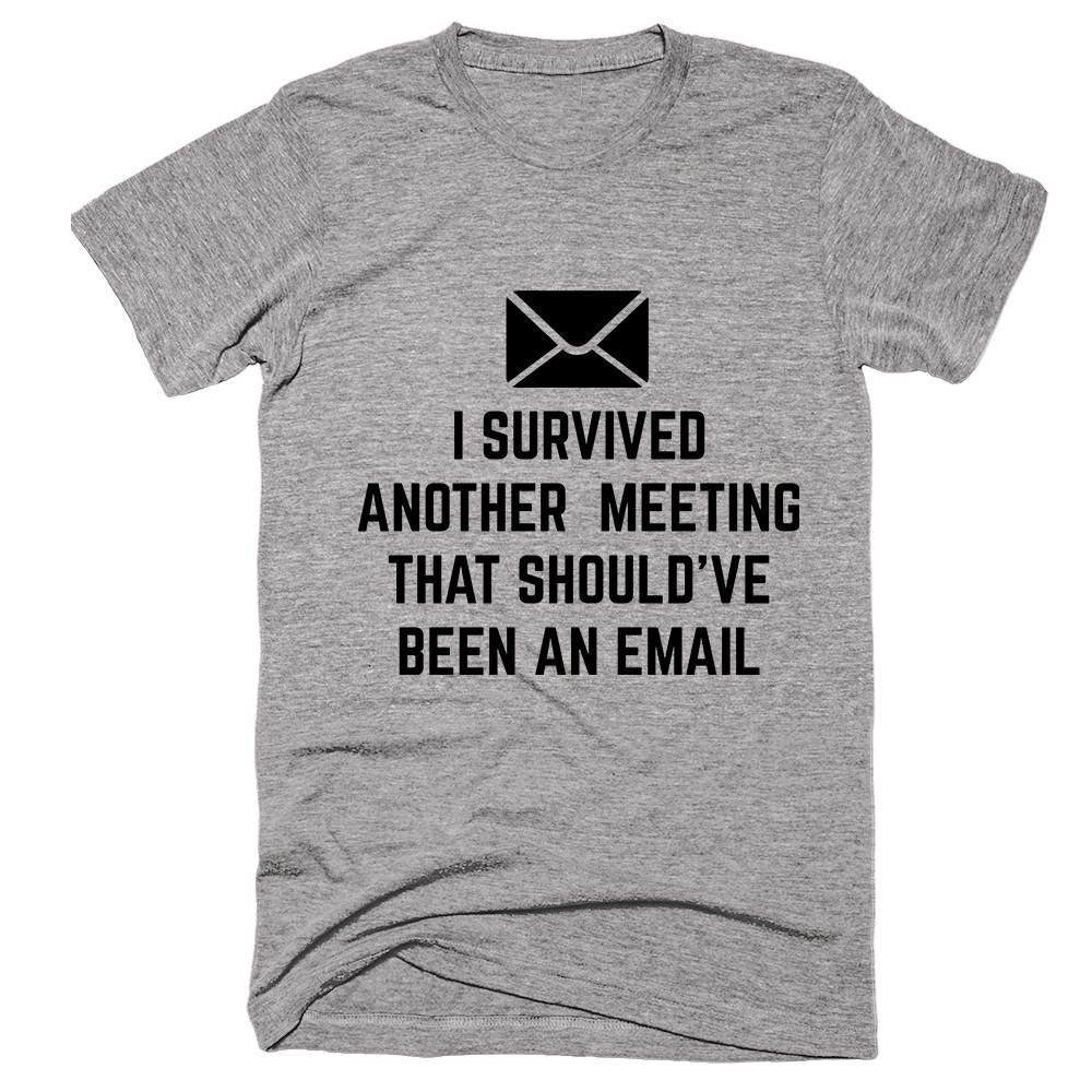 I Survived Another Meeting That Should Ve Been An Email T Shirt