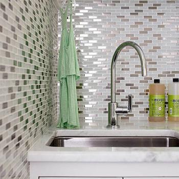 Mosaic Glass Backsplash · Laundry Room SinkLaundry ...