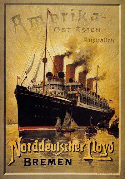 Http Www Ebay Com Itm Tx146 Vintage Norddeutscher Lloyd Bremen