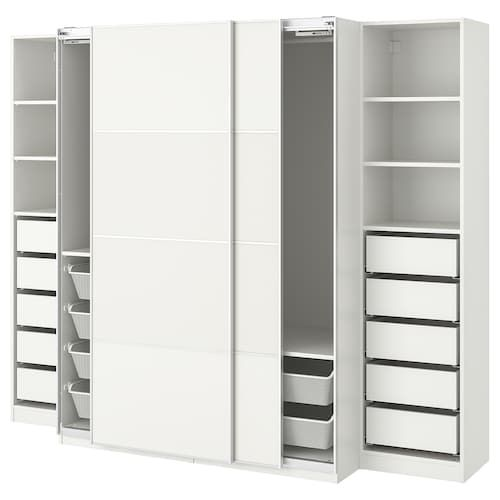 ELVARLI 3 sezioni bianco 258x51x222350 cm Ikea