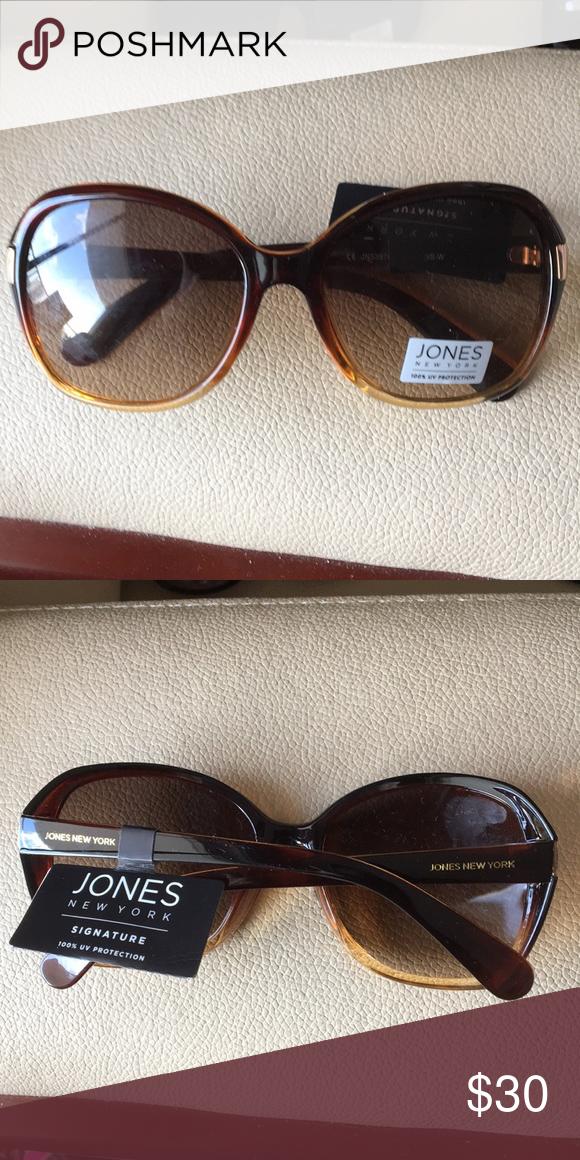 0525cda55e87f New Jones NY Tortoise Gold Accent Sunglasses New Jones New York Accessories  Sunglasses