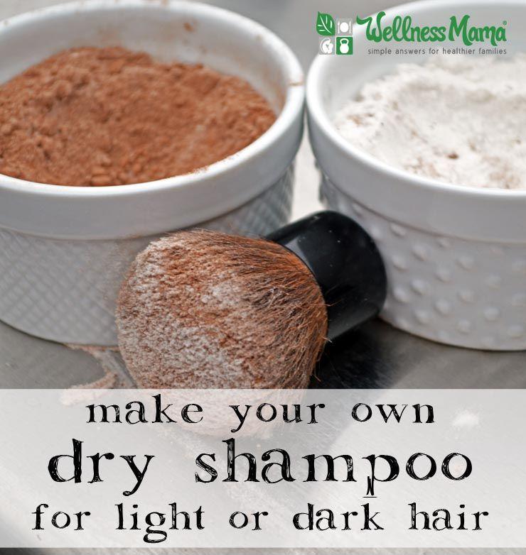 Diy Dry Shampoo Recipe For Light Dark Hair Wellness Mama Homemade Dry Shampoo Diy Dry Shampoo Dry Shampoo