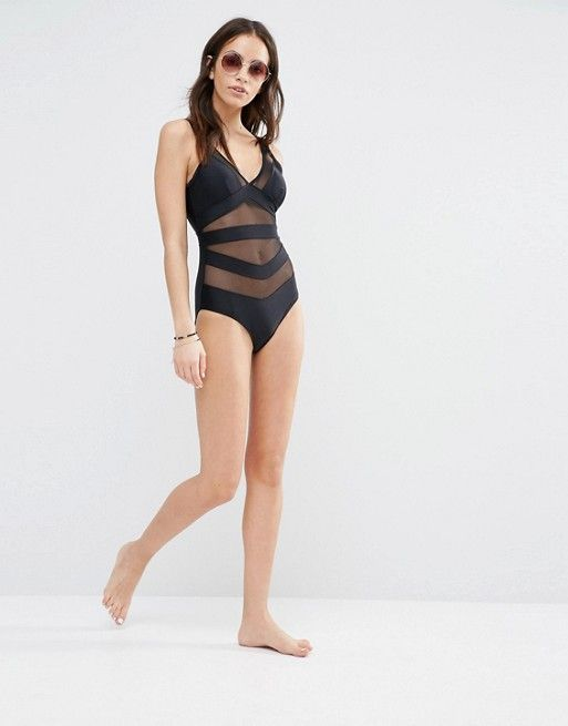ec768a4b36 Stylish Swimwear for your next vacation - Ted Baker | Ted Baker Mesh Plunge  Swimsuit