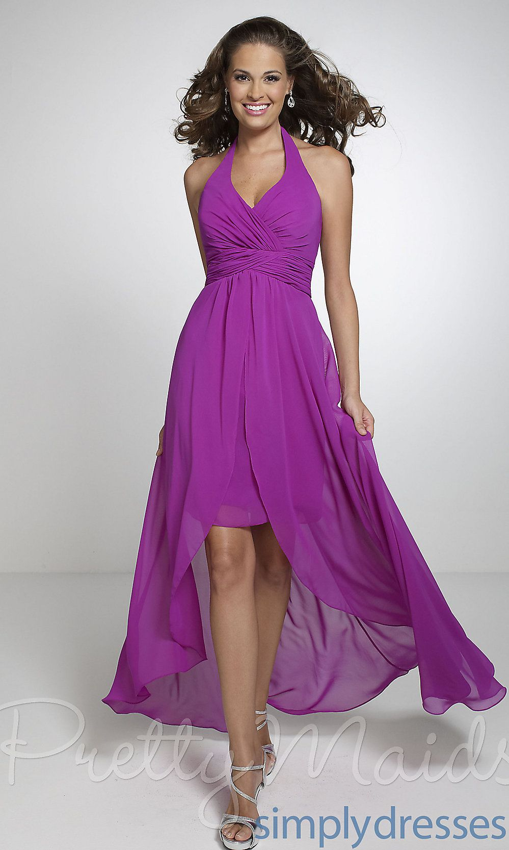 Dress, High Low Halter Bridesmaid Dress - Simply Dresses this would ...
