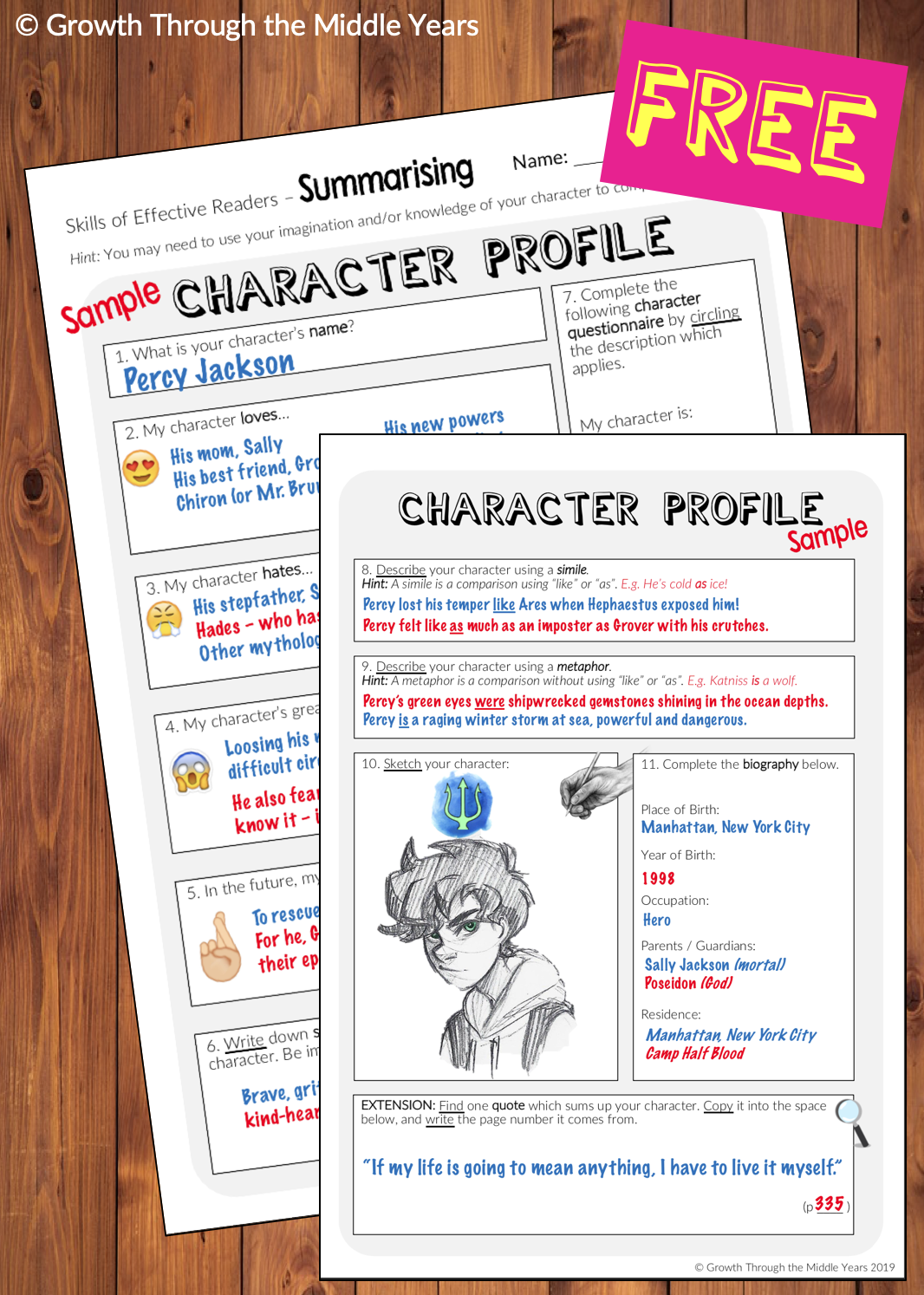 Free Character Profile