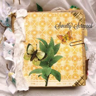 Sweetly Scrapped: Vintage Butterfly Summer Premade Album