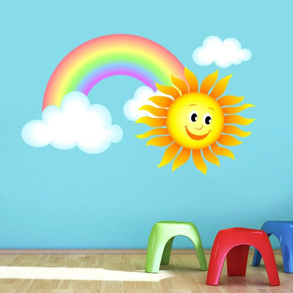 Sun rainbow s nursery art vinyl decal transfer