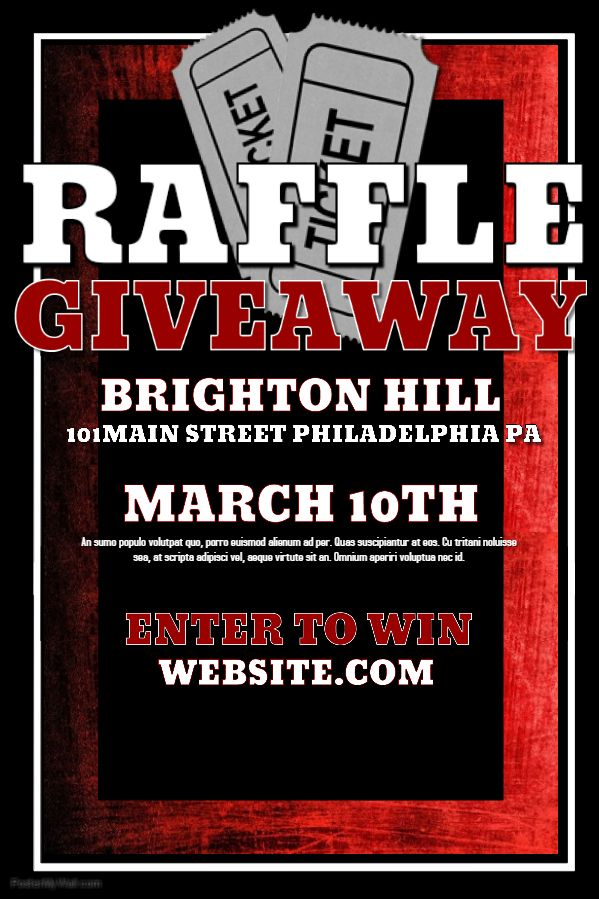 Raffle Giveaway Poster Template Interesting Pins Pinterest