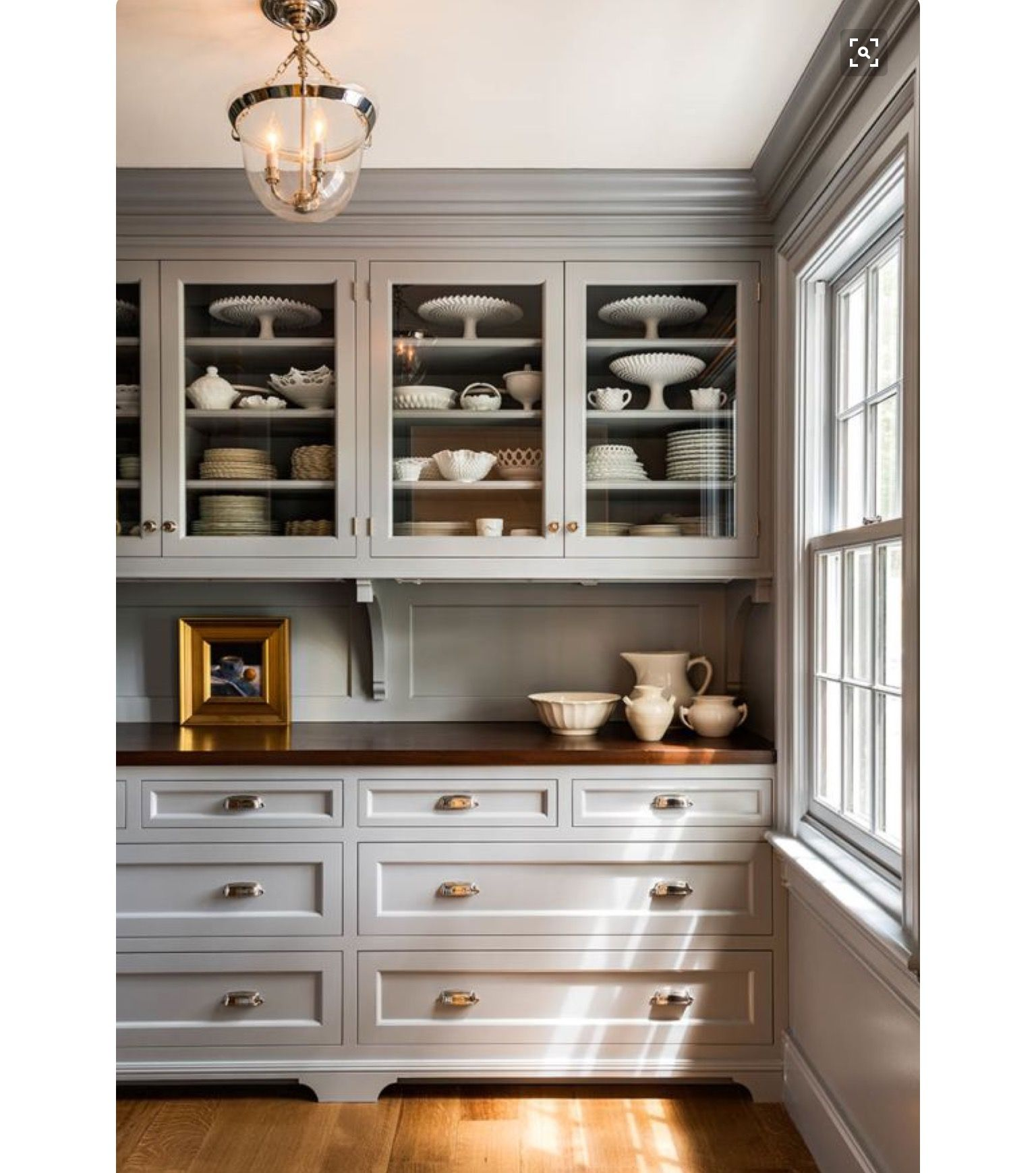The Wood Countertop Farmhouse Kitchen Cabinets Kitchen