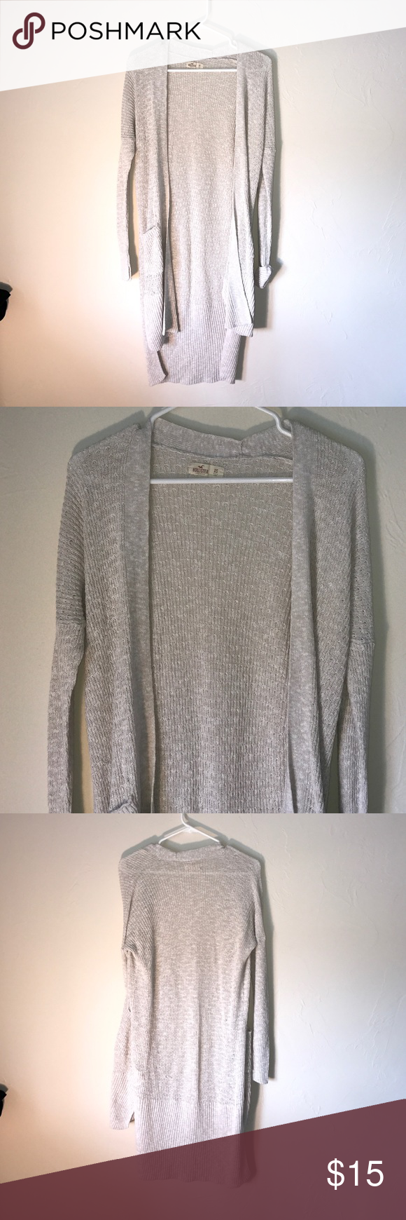 Hollister Duster Sweater🎩 Hollister Duster Sweater🎩. Hi lo hem, open style Cardigan, front pockets. Great preowned condition! Hollister Sweaters Cardigans