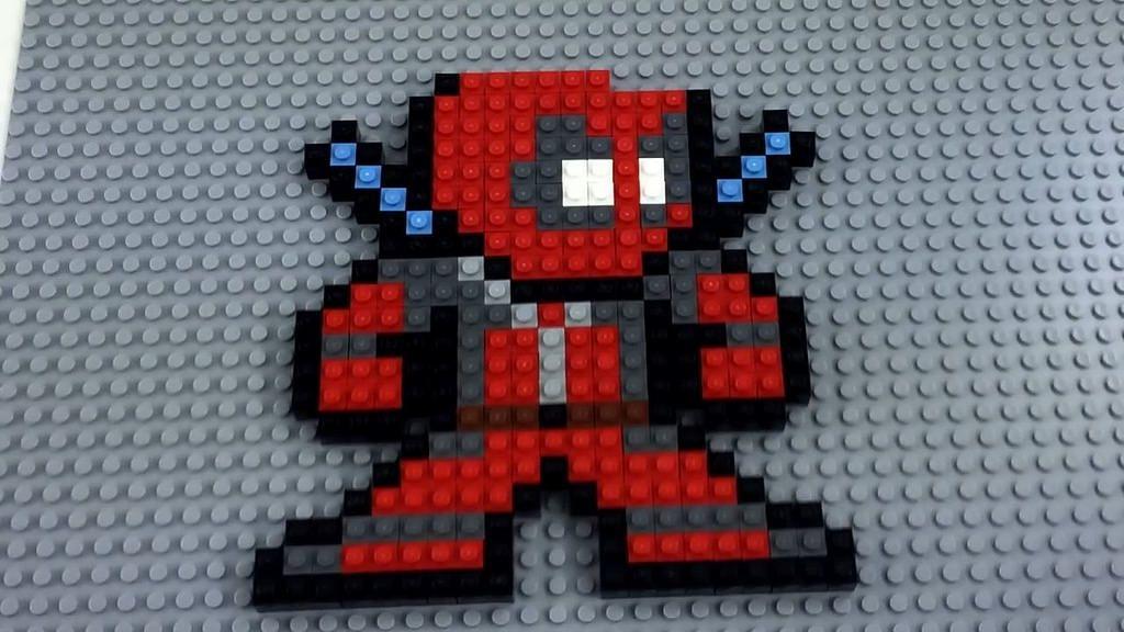 Lego deadpool mosaic lego wall art lego mosaic lego