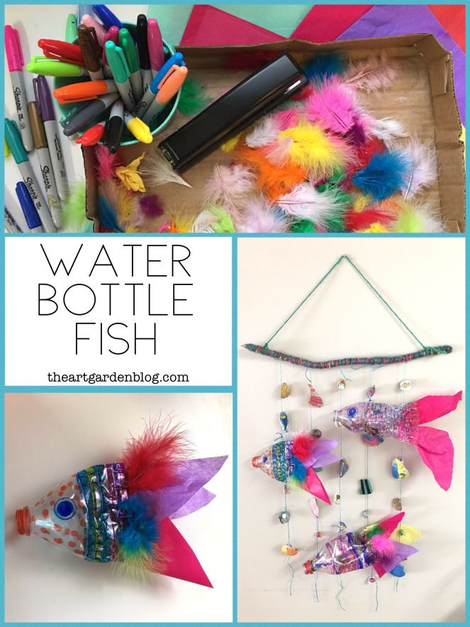 Water Bottle Fish Wall Hanging
