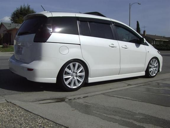 White Mazda 5 Lowered With Images Mazda Custom Cars My