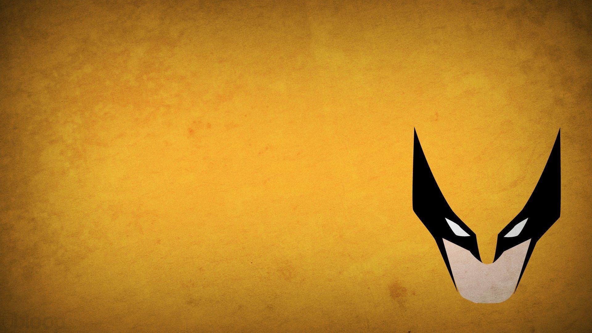 Minimalistic X Men Wolverine Superheroes Marvel Comics Yellow Background Blo0p Wallpaper 1868988 Wallb Superhero Wallpaper Dc Comics Wallpaper Wolverine