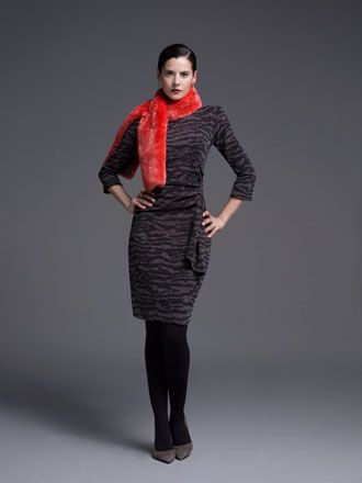 A casual winter dress with a touch of elegance!
