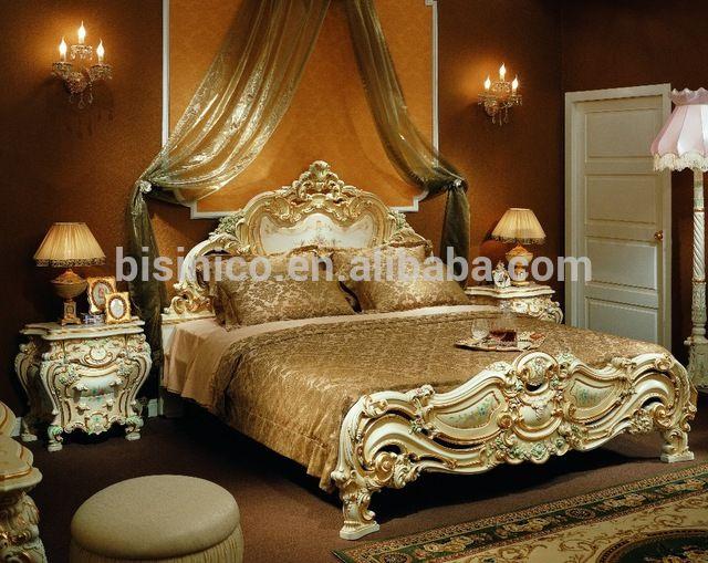 Francés de lujo royal palace 1.8 m mano de madera tallado calado ...