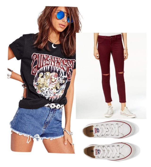 """""""Untitled #47"""" by jolee-micah ❤ liked on Polyvore featuring Missguided, Rewash and Converse"""
