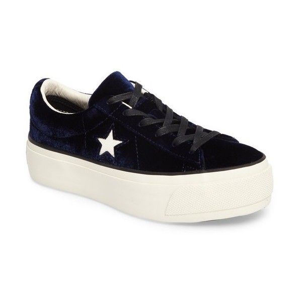 converse one star platform noir velvet