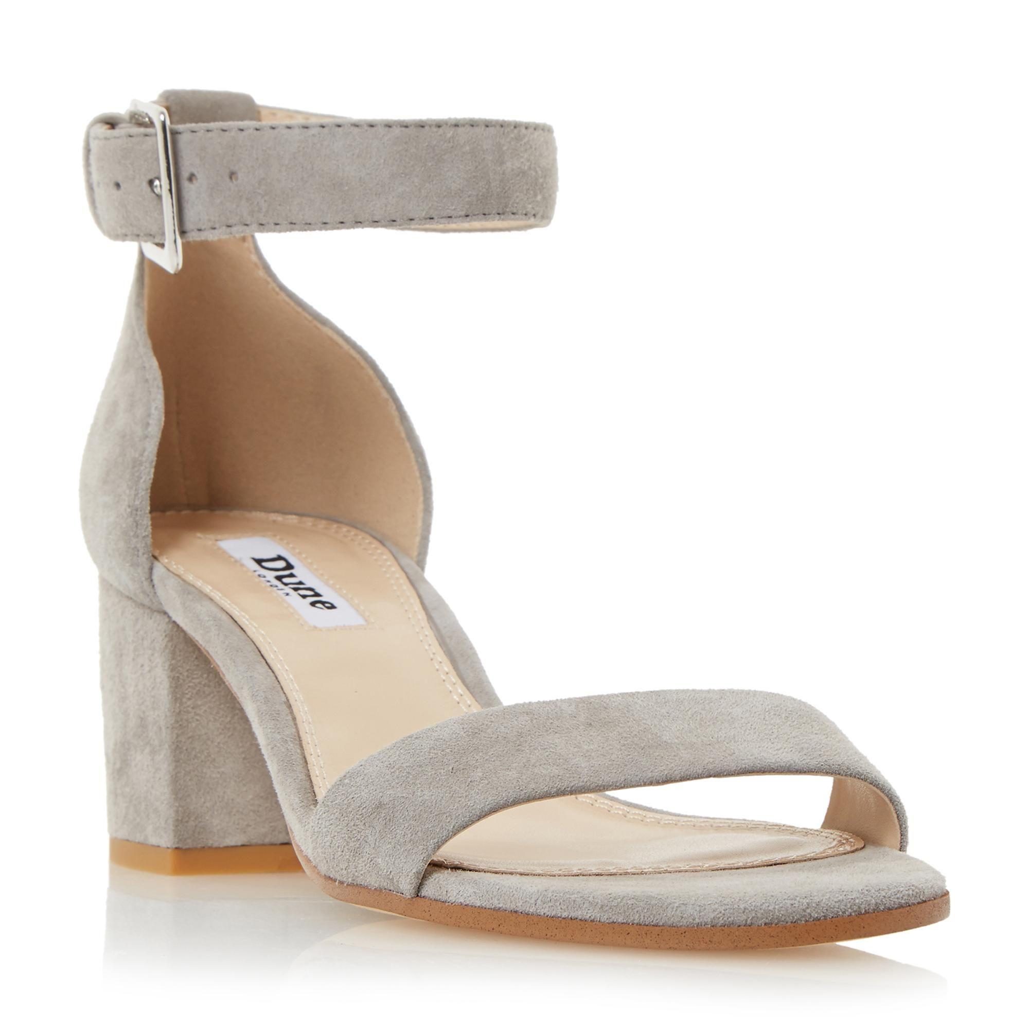 bb841d96c7 DUNE LADIES JAYGO - Two Part Block Heel Sandal - grey | Dune Shoes Online