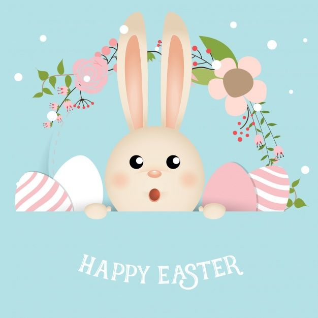 Download Beautiful Surprised Easter Rabbit For Free Easter