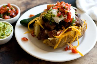 carne asada stuffed potatoes {Homesick Texan}