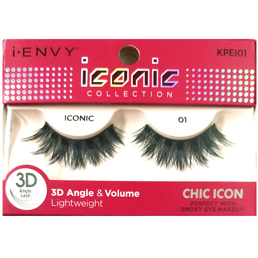 95992308925 Kiss i-ENVY iconic Collection Chic Icon 3D Angle Eyelashes 1 Pair Pack -  iconic 01 #KPEI01 $4.49 Visit www.BarberSalon.com One stop shopping for ...