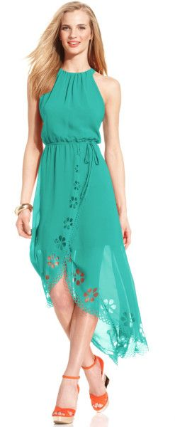 Love this: Laser Cut High Low Halter Dress @Lyst jaglady