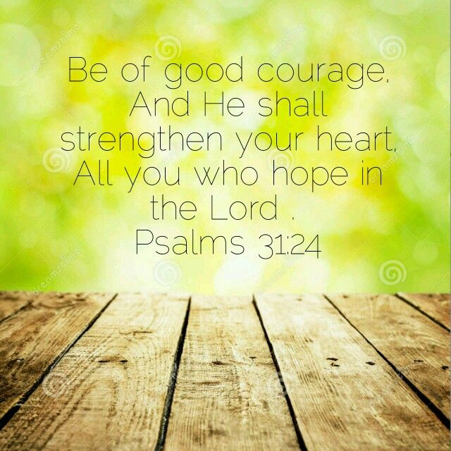 Psalm 31:24 hope